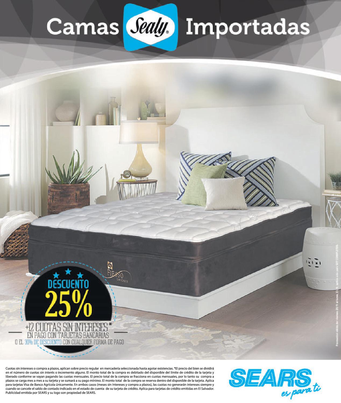 Camas sealy beds en sears 19sep13 ofertas ahora for Camas en oferta
