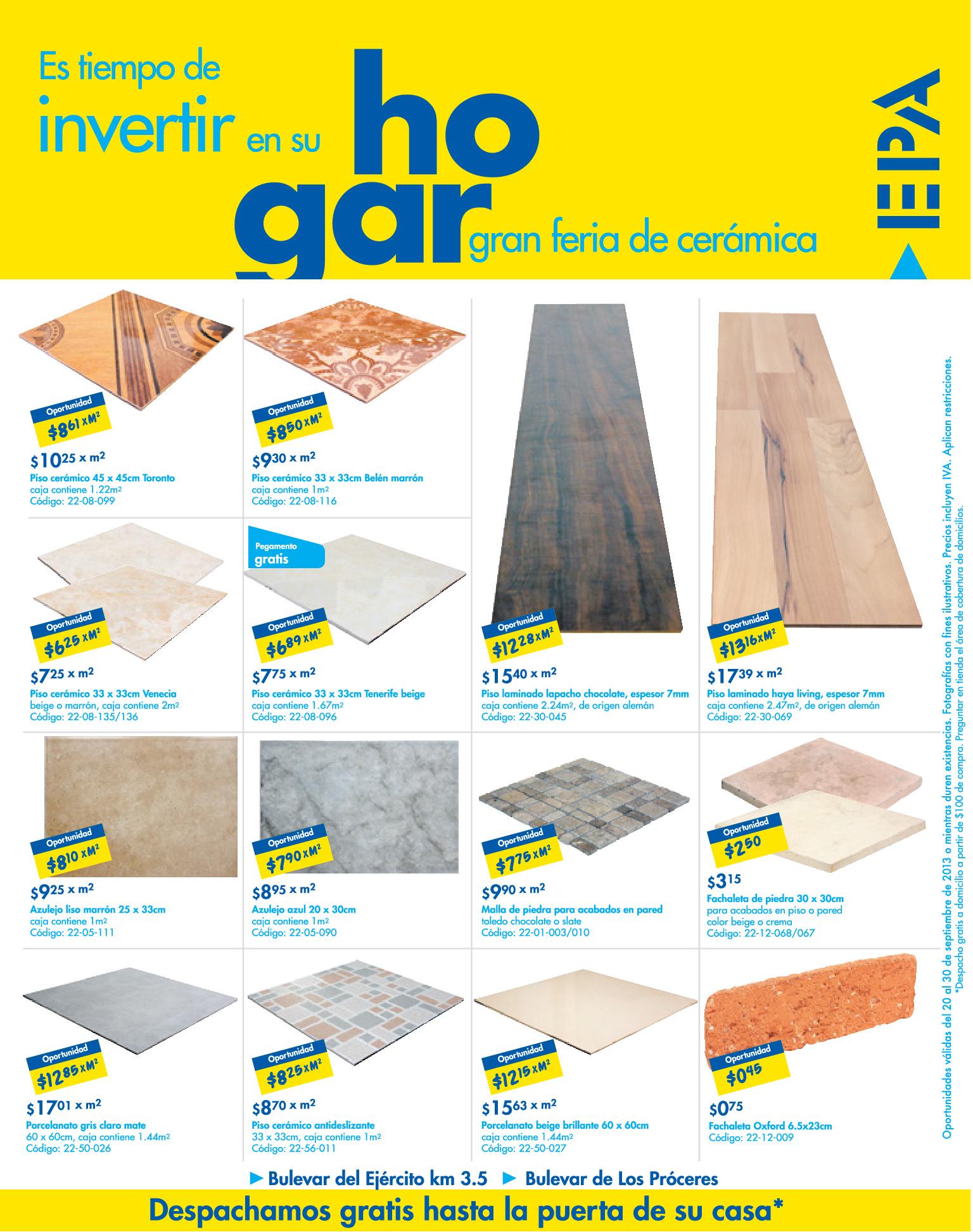 Epa ofertas en ceramicas 20sep13 ofertas ahora for Ofertas de ceramicas para piso