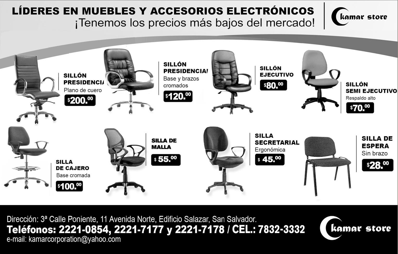 Kamar store muebles y sillas empresariales en oferta for Sillas empresariales