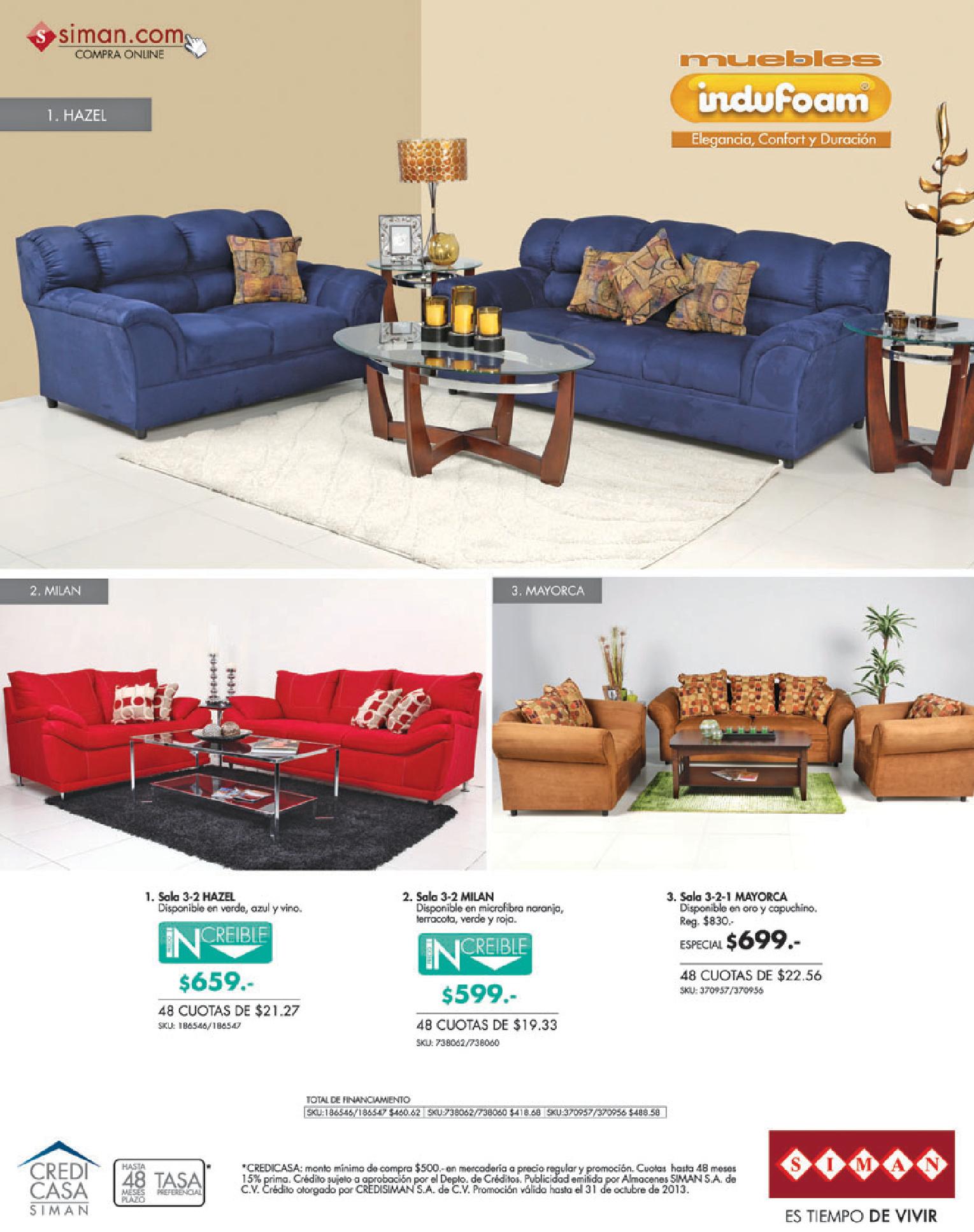 Muebles indufoam ofertas siman el salvador 10oct13 for Muebles salvador