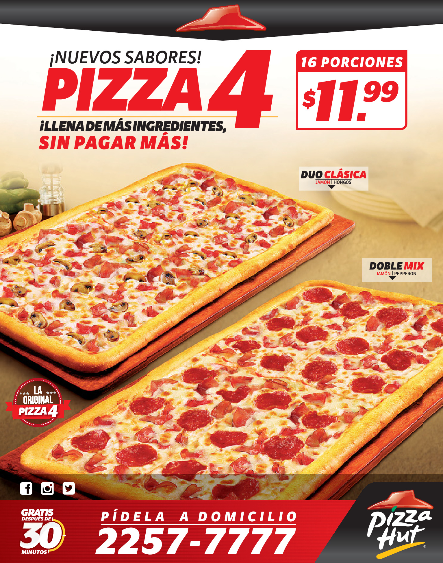 Nuevos sabaores en pizza 4 de pizza hut 14oct13 for Oficinas de pizza hut