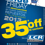 BLUE FRIDAY con descuento es repuestos LCR el salvador - 14nov13