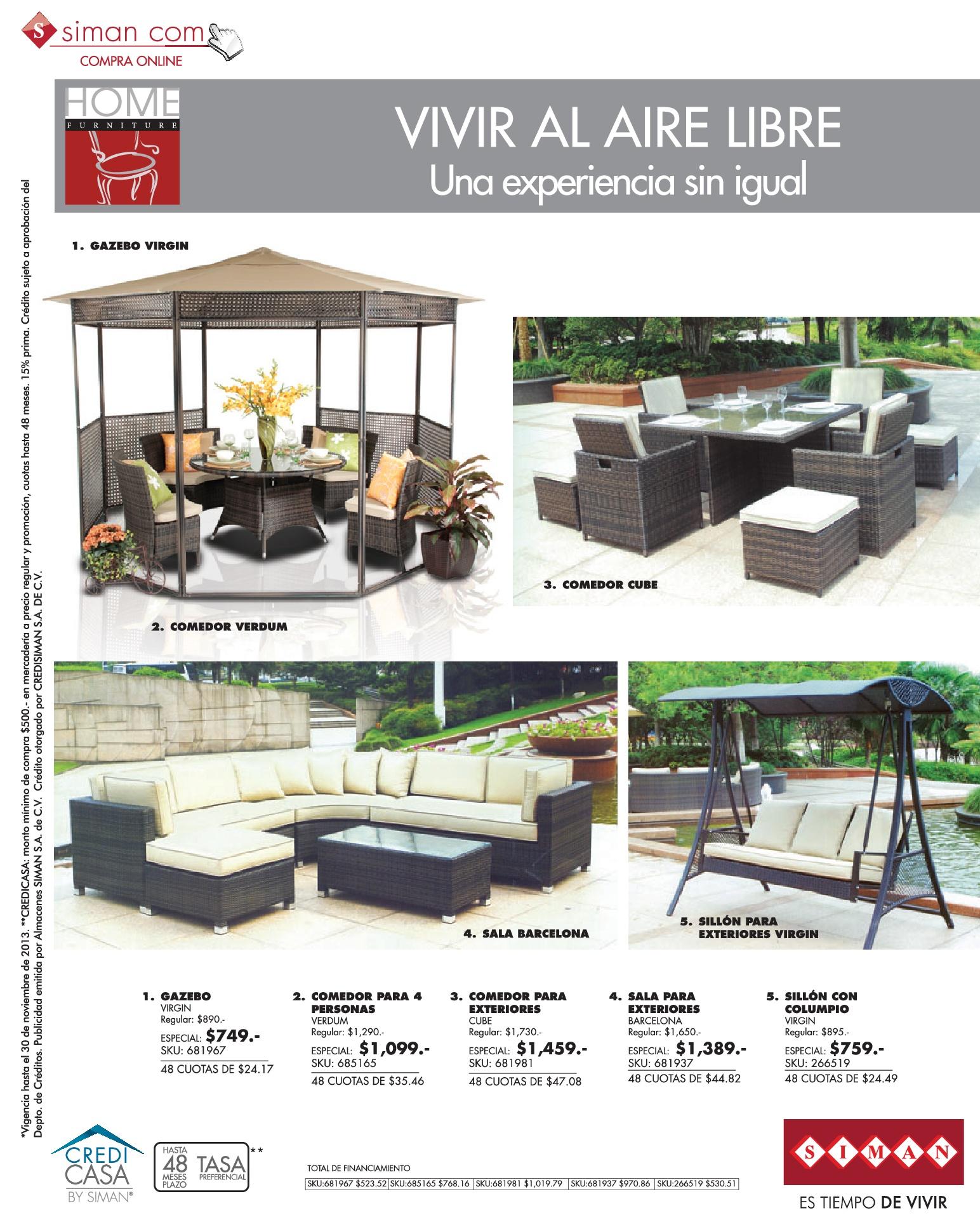 Muebles de jardin y terrazas ofertas 02nov13 for Ofertas en muebles de terraza y jardin