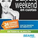 SEARS promocion BLACK Weekend con tarjetas credito CITI - 28nov13