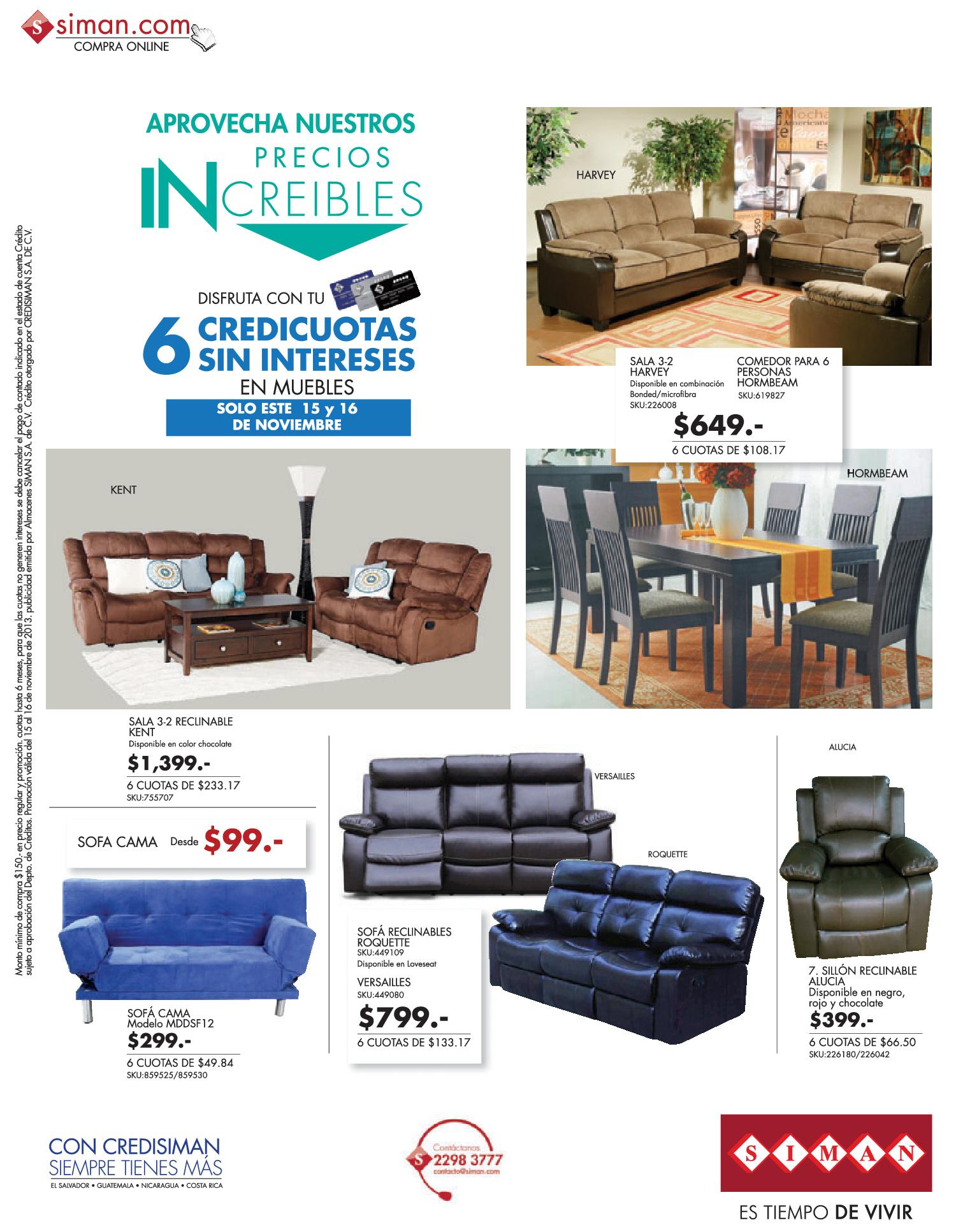 Compra online ofertas en muebles y comedores for Ofertas muebles