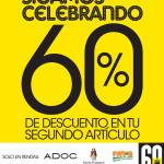 Sigamos celebrando descuento 60 OFF ADOC el salvador - 14nov13