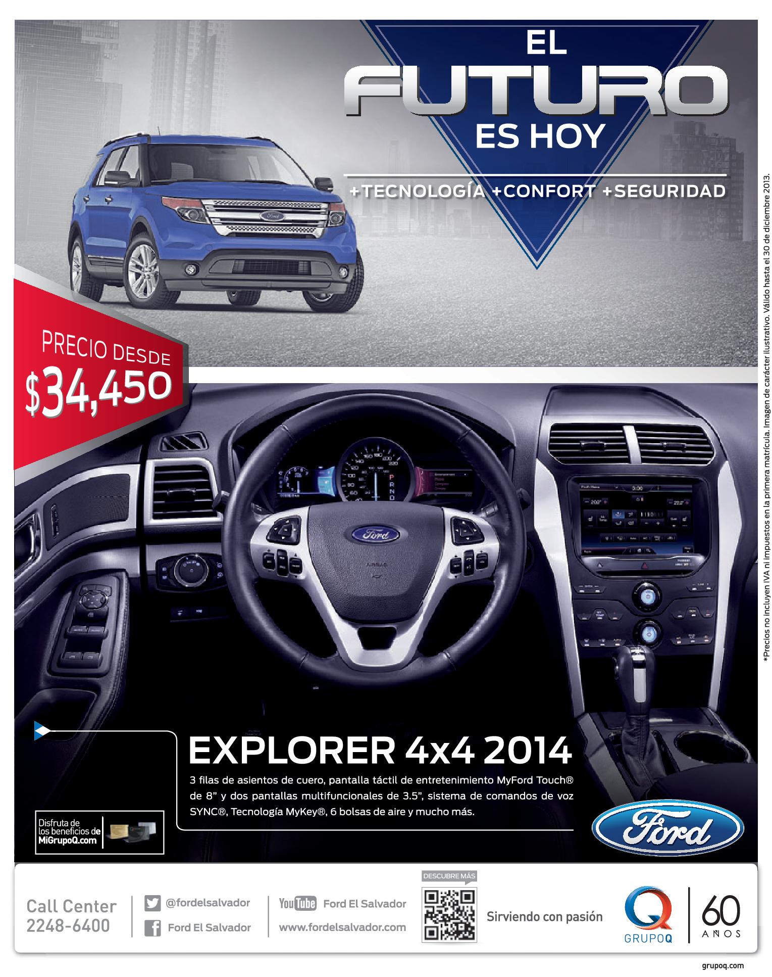 Ford explorer 4x4 2014 promotion grupo q 11dic13 for Ford s fish shack menu