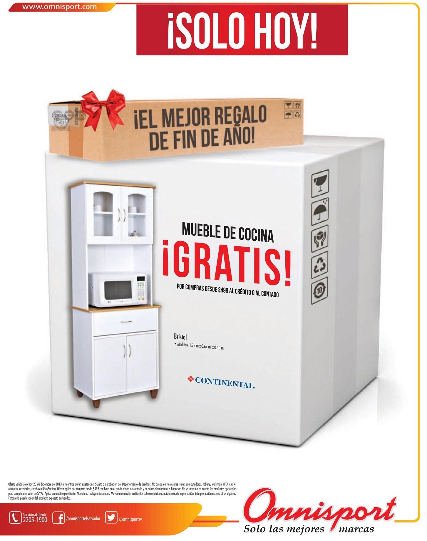 Muebles de cocina gratis promociones omnisport 23dic13 for Muebles de cocina gratis