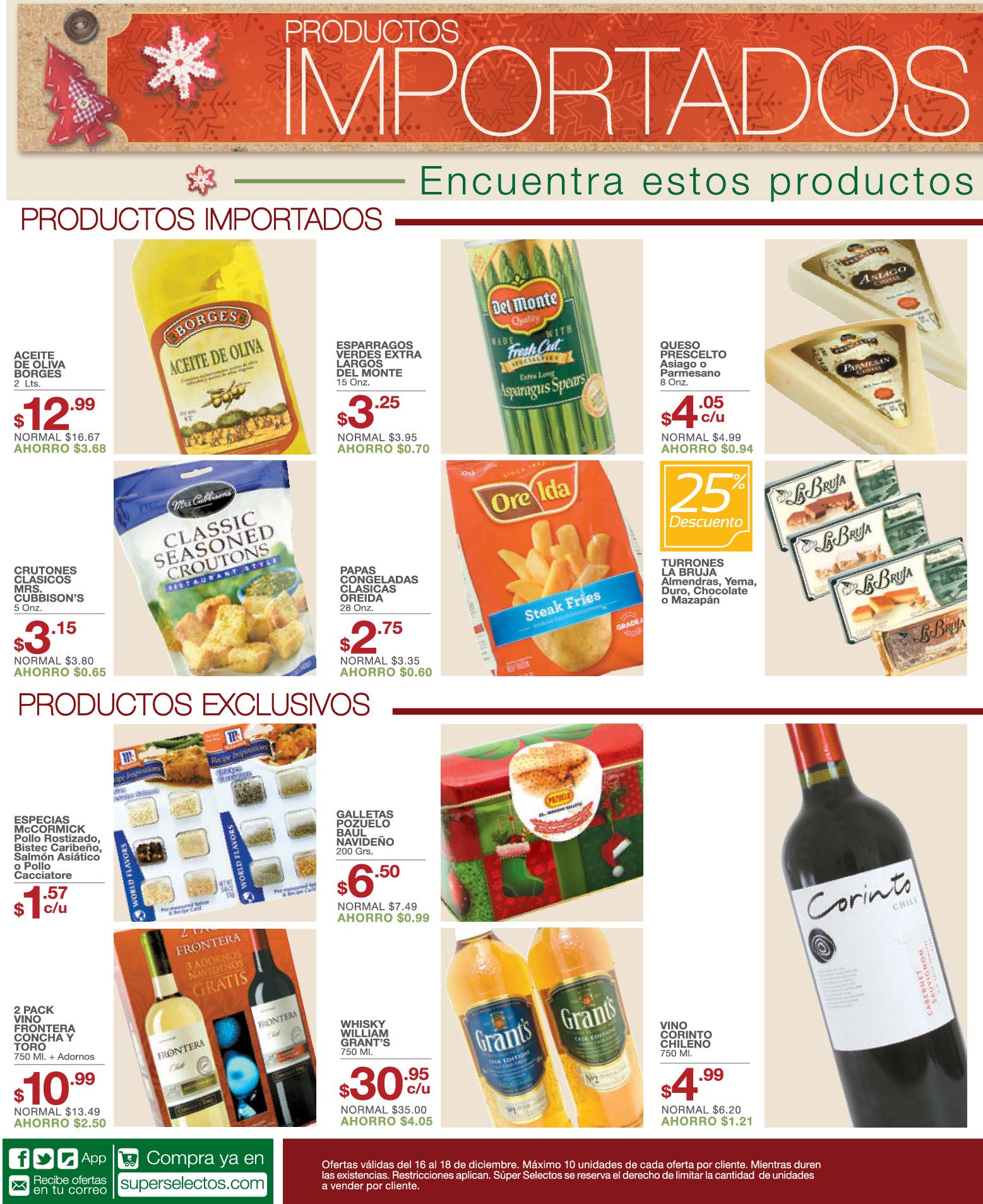 Productos importados para navidad super selectos for Productos de navidad