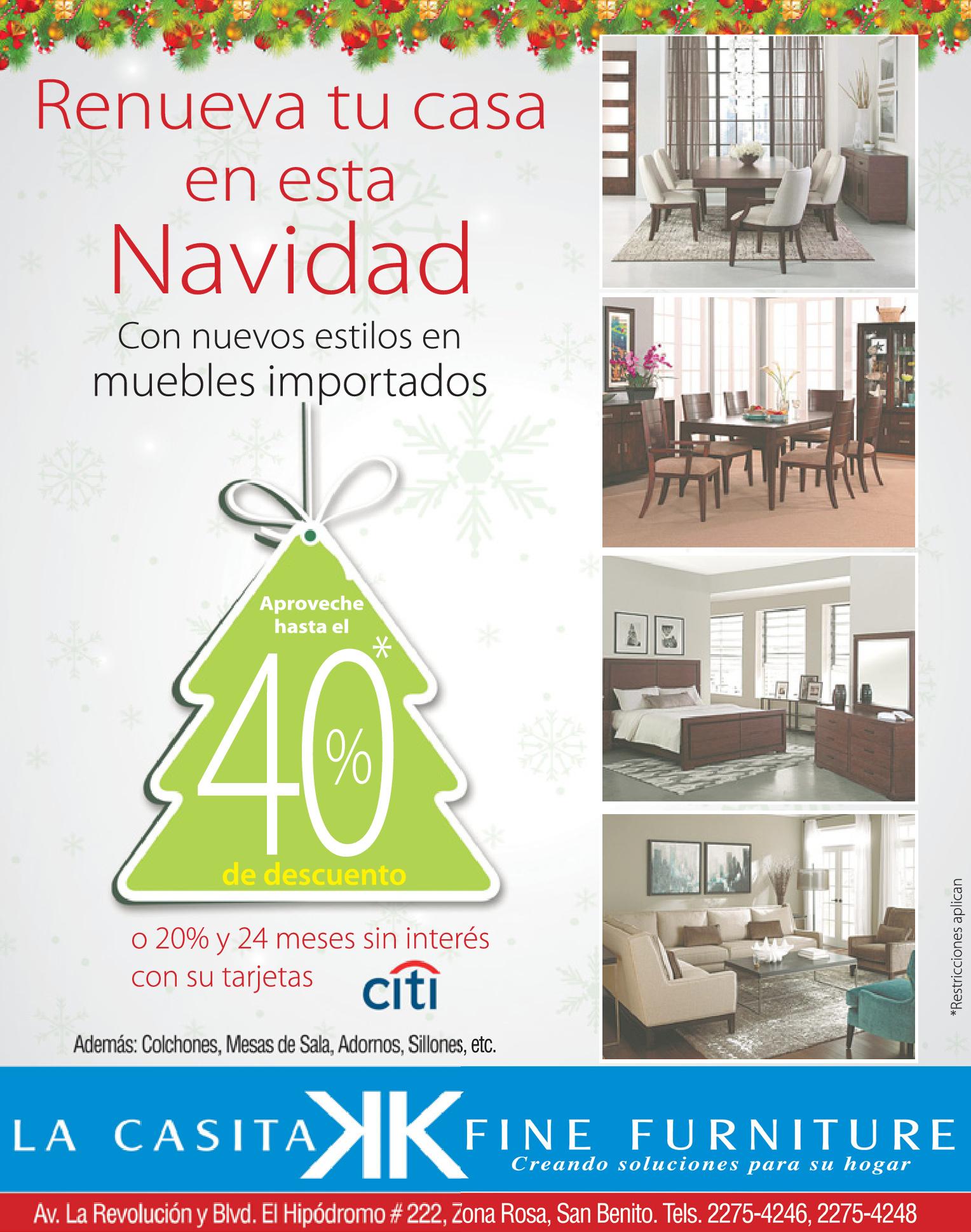 Renueva tu casa en navidad la casita fine furniture - La casa de la navidad ...