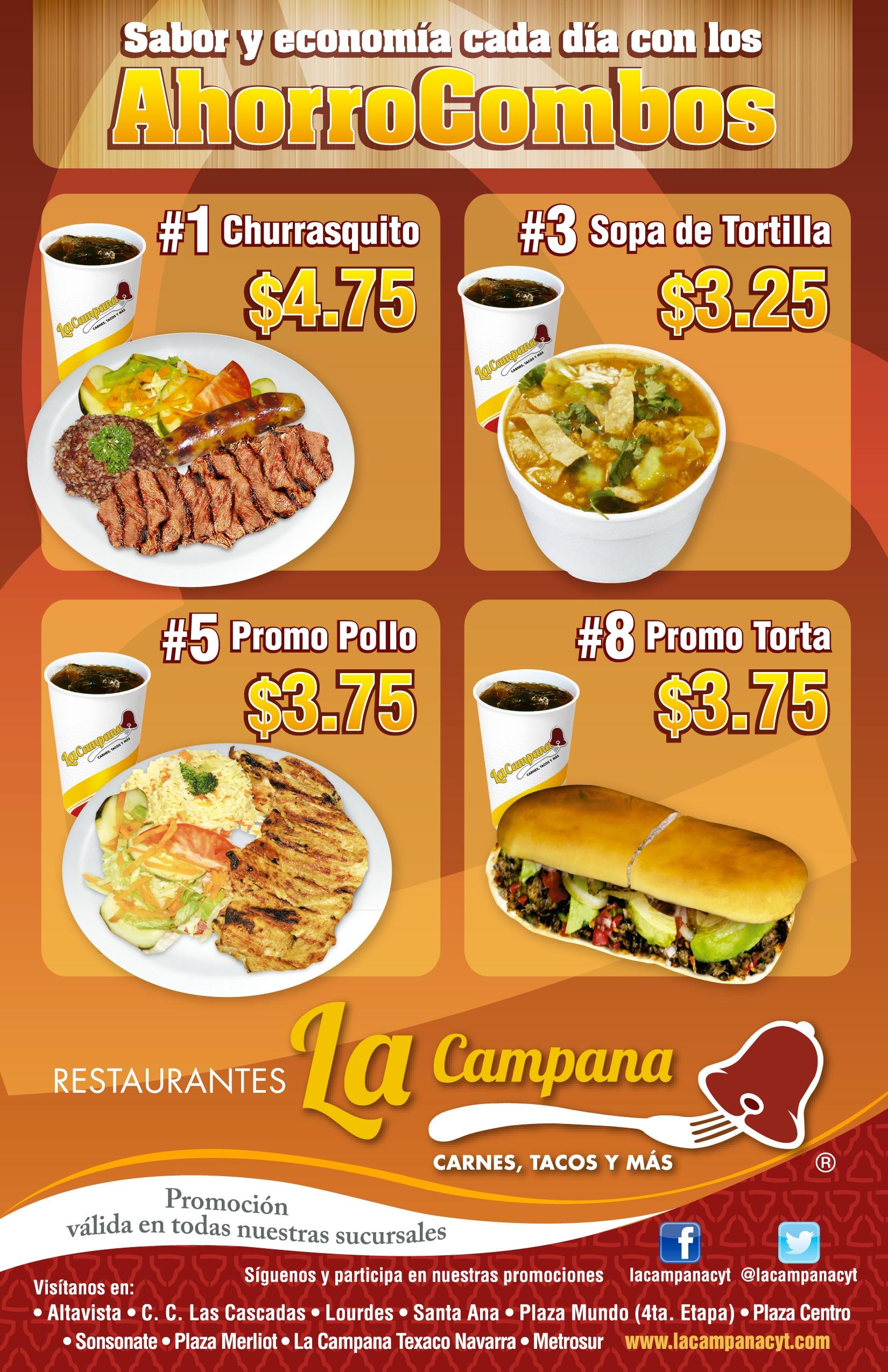 Restaurantes la campana el salvador ahorro combos for Restaurante la campana barcelona