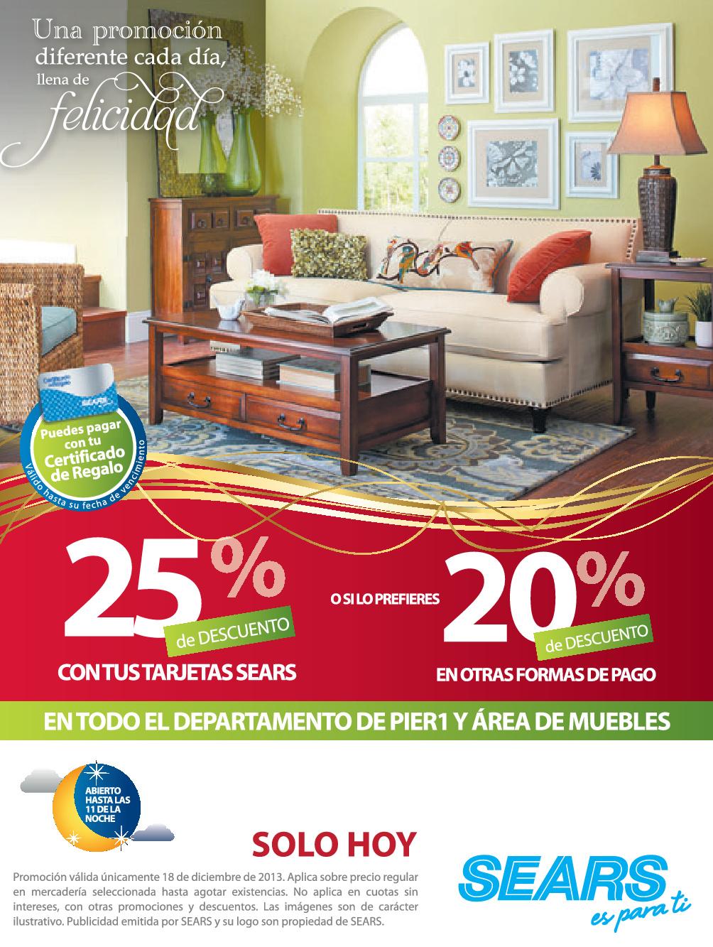 Sears descuento de hoy en muebles 18dic13 ofertas ahora for Muebles de oficina ahora 12