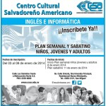 Aprender ingles e informatica CENTRO CULTURAL salvadoreño - 02ene14