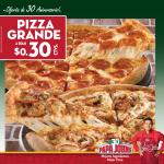 Papa Johns el salvador oferta de aniversario pizza grande - 23ene14