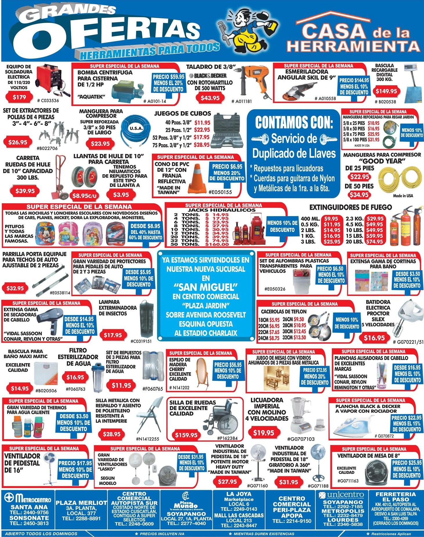 Grandes ofertas herramientas para todos casa de la for Casas de herramientas