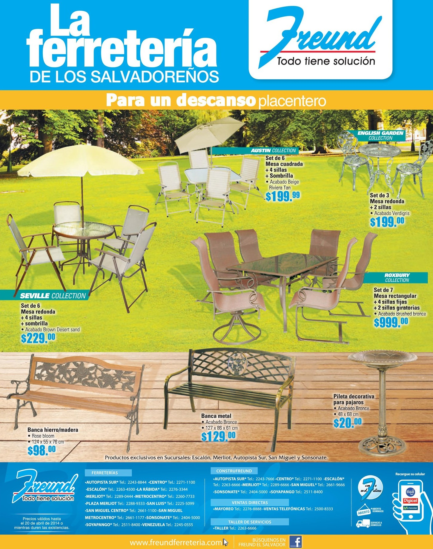 Muebles para jardin y terraza 14abr14 ofertas ahora for Ofertas en muebles de terraza y jardin