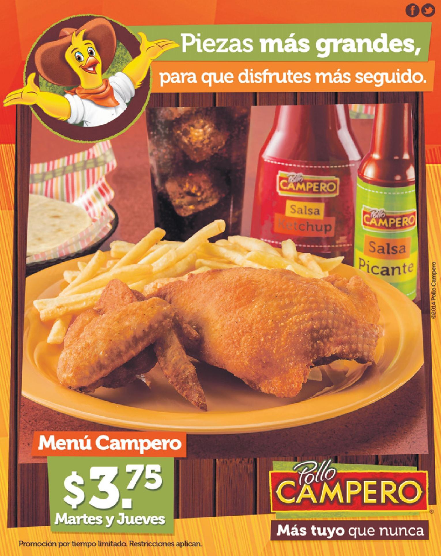 comprar menu campero martes y jueves pollo campero sv 08abr14 rh ofertasahora com pollo campero el salvador+numero a domicilio