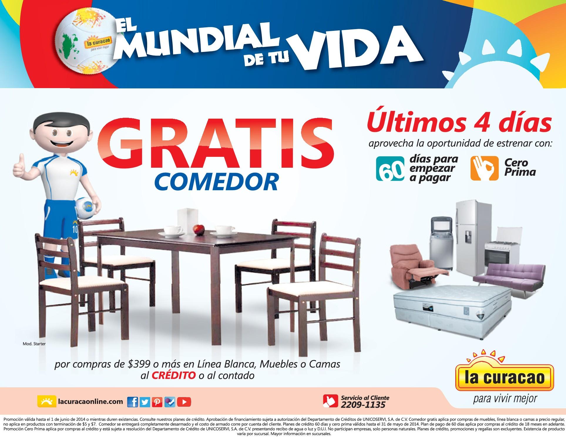 Gratis juegos de comedor promociones la curacao 28may14 for Juego de comedor oferta