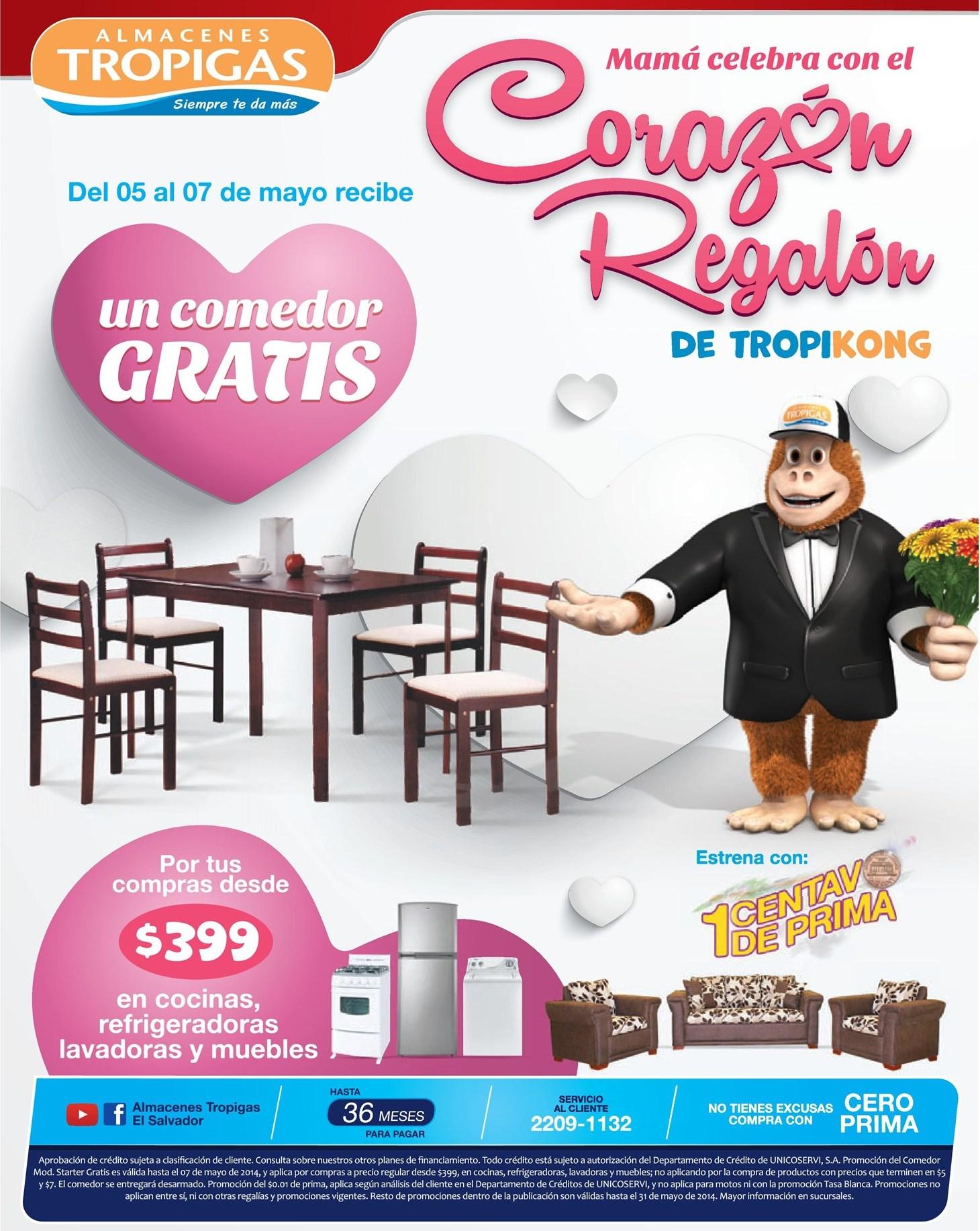 Juegos de comedor gratis celebra a mama tropigas 05may14 for Juego de comedor oferta