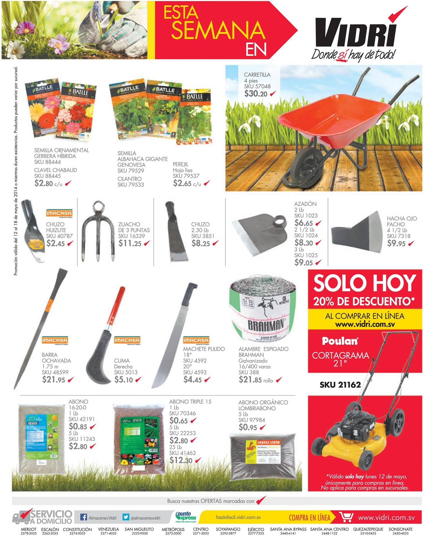 Accesorios y herramientas para jardin almacenes vidri el for Productos accesorios para jardin