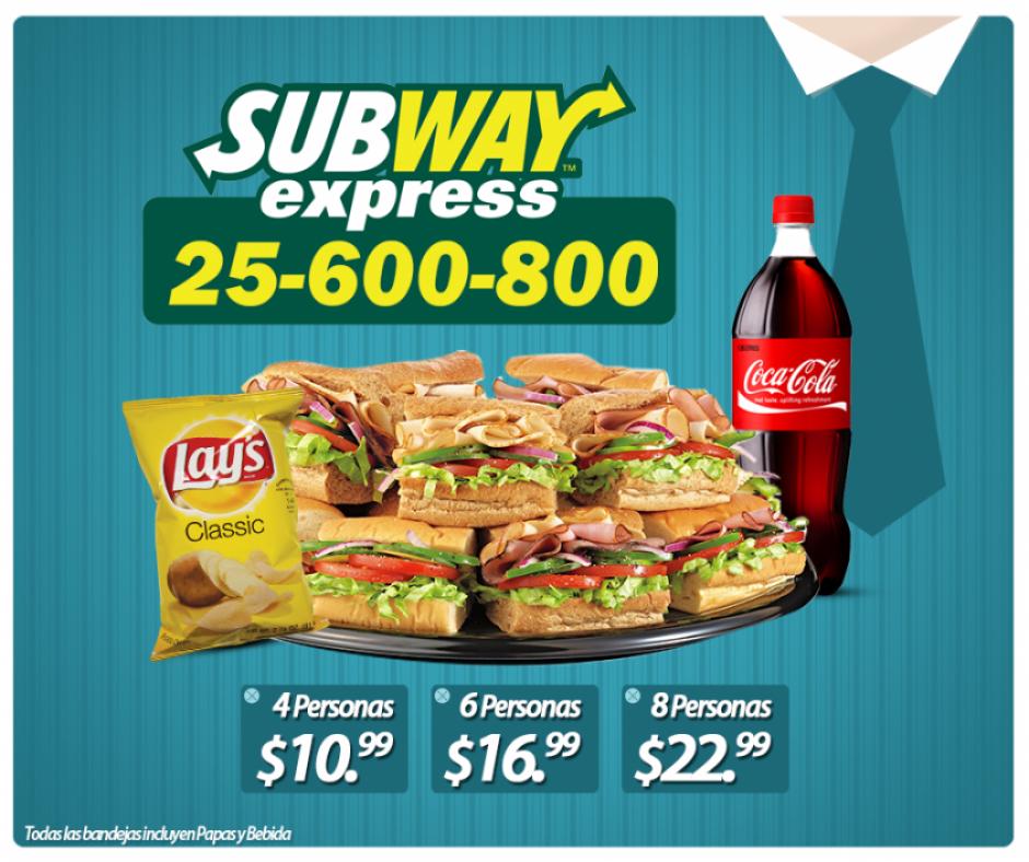 Bandeja de SUBWAY Express a domicilio - Ofertas Ahora