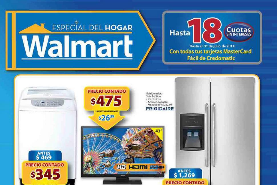 Catalogo de compras WALMART especial de hogares
