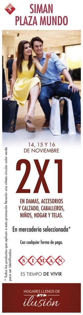 ATENCION 2x1 en siman plaza mundo - 14nov14