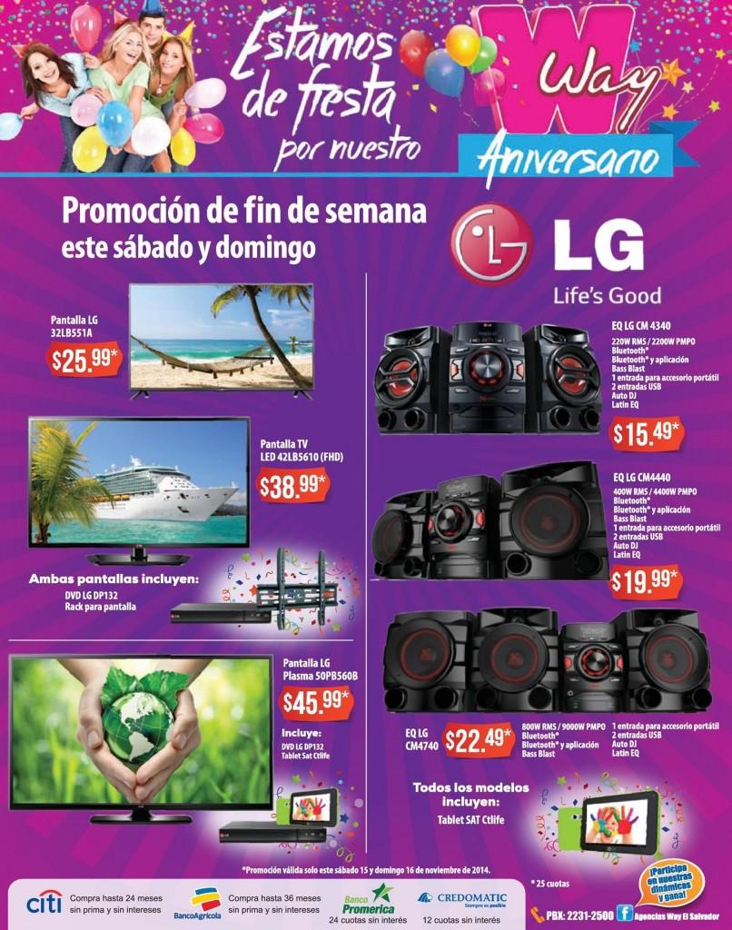Promociones electrodomesticos AGENCIAS WAY  - 14nov14