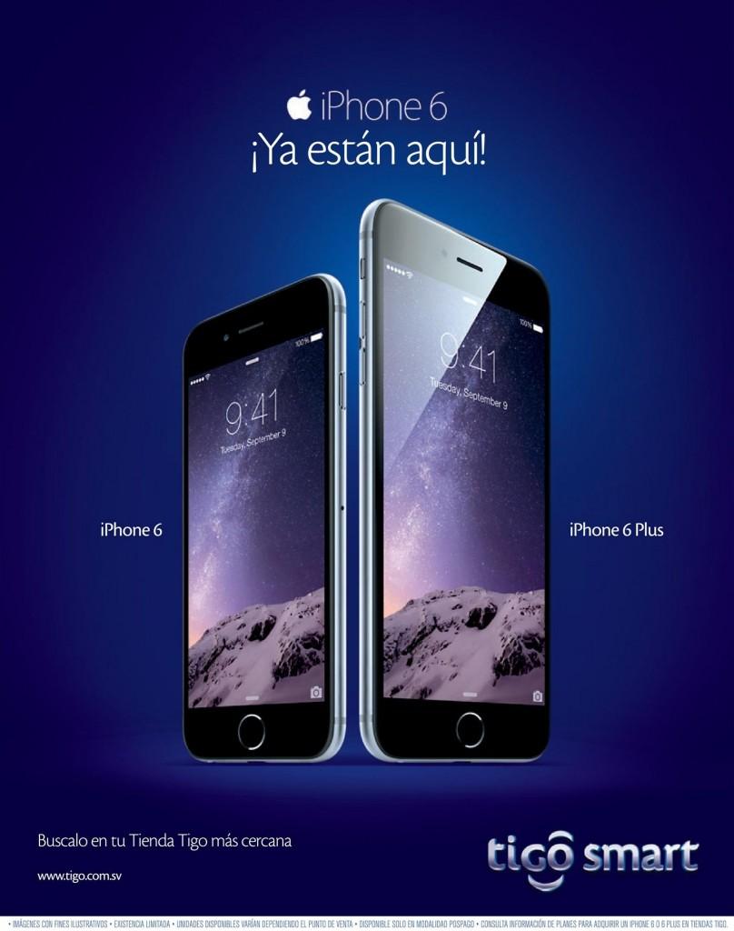 iPhone 6 ya esta aqui en TIGO SMART - 14nov14