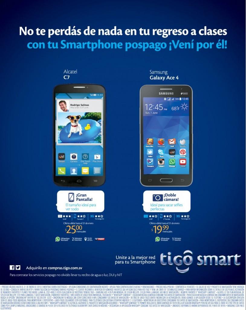 Alcatel C7 smartphone TIGO promociones - 12ene15