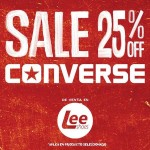 Lee shoes promociones SALE 25 OFF en calzado CONVERSE - 17feb15