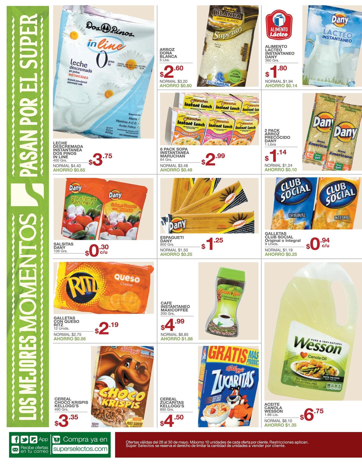 productos con precios bajos y rebajados en super selectos