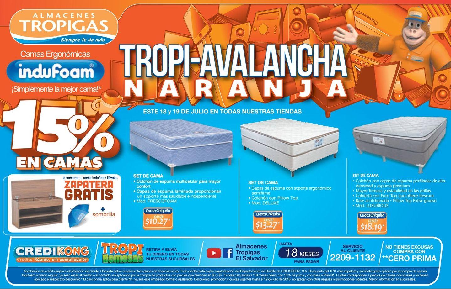 Camas al mejor precios con almacenes tropigas ofertas ahora for Almacenes de camas en ibague