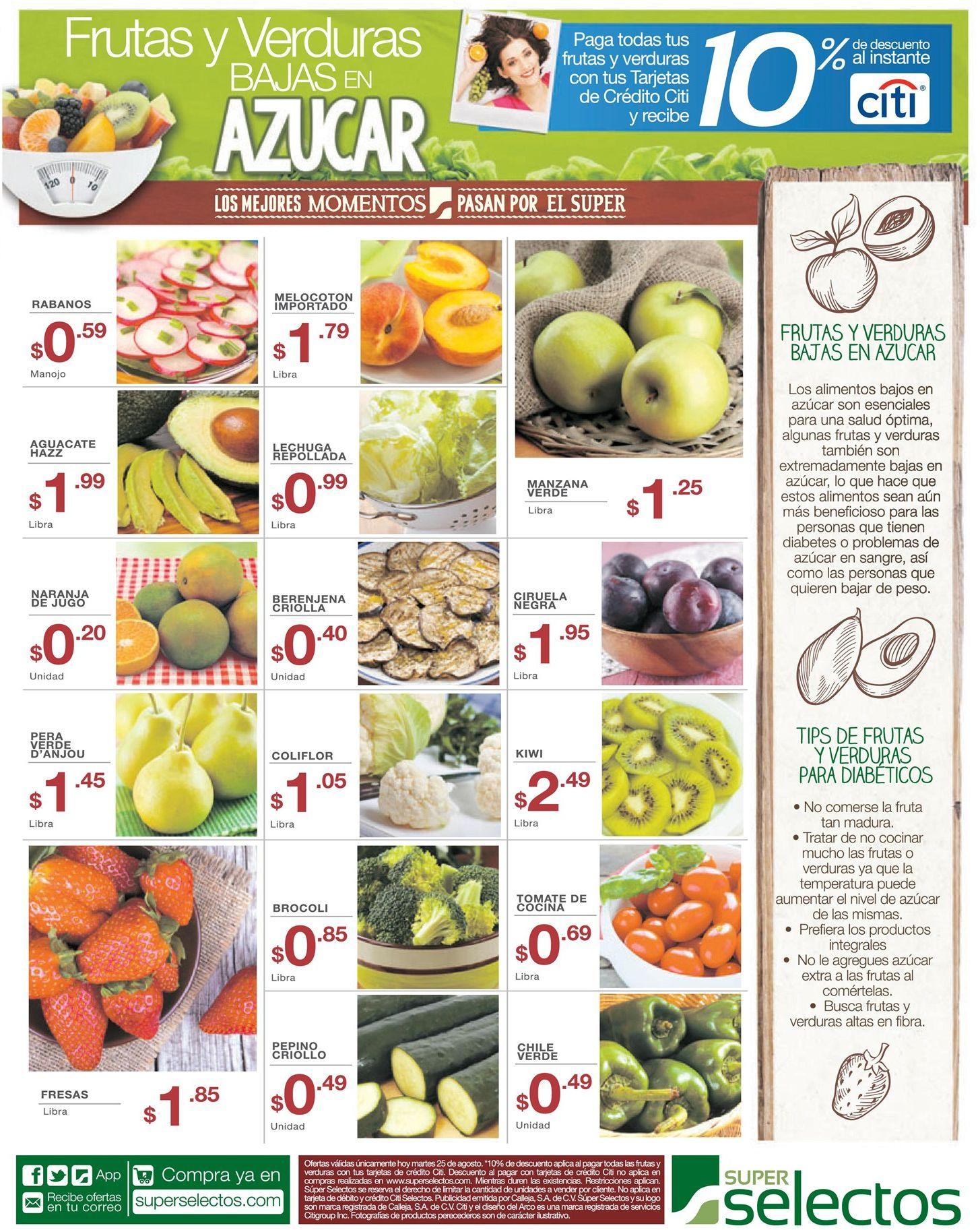 Verduras Y Frutas Para Diabeticos