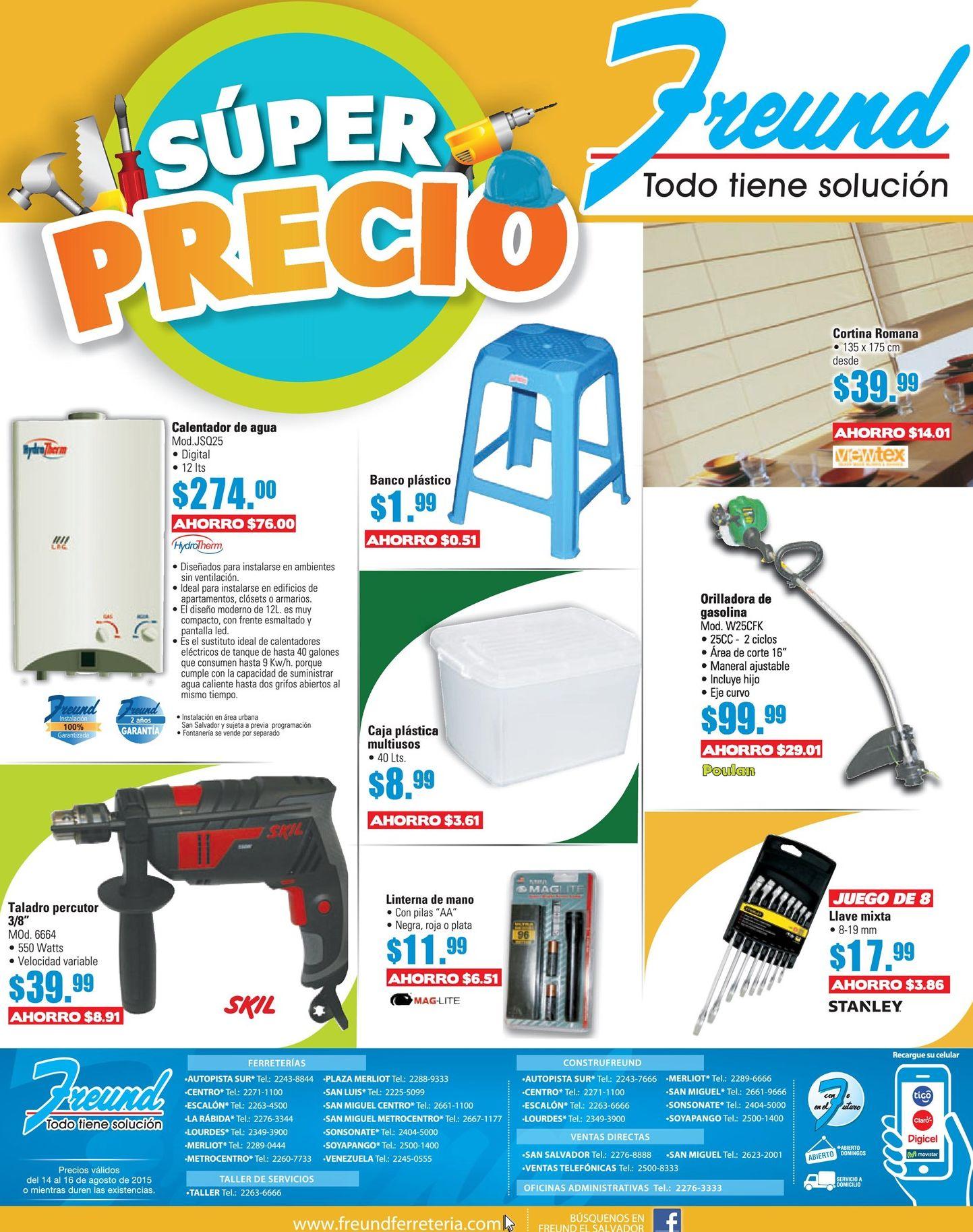 Super precio en productos freund calentador de agua - Calentador de agua precios ...