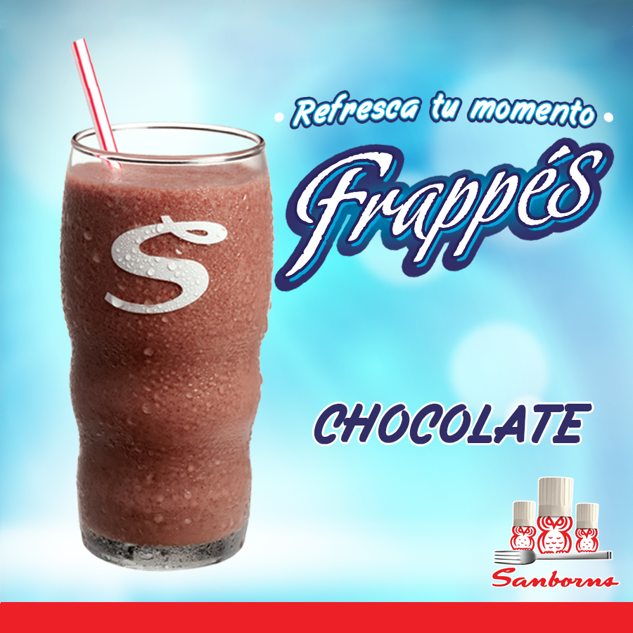 Frappes delciosos de chocolate en sanborns ofertas ahora for Chocolates azulejos sanborns precio