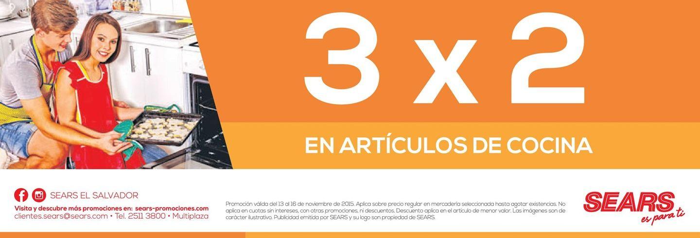 Articulos de cocina promocion 3x1 sears ofertas ahora for Articulos de cocina