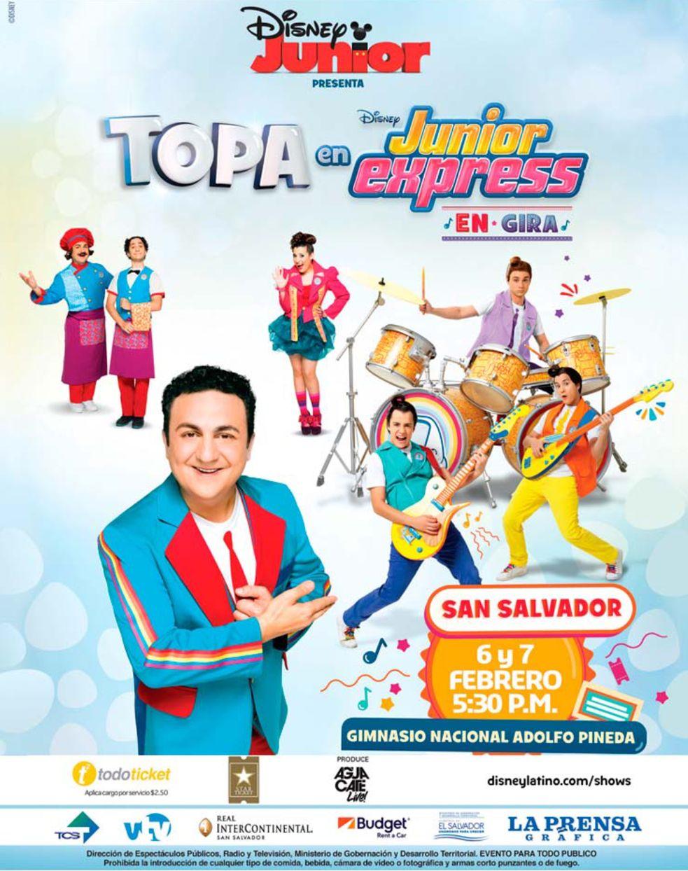 Proxima Parada SAN SALVADOR les saluda TOPA el capitan del Junior Express
