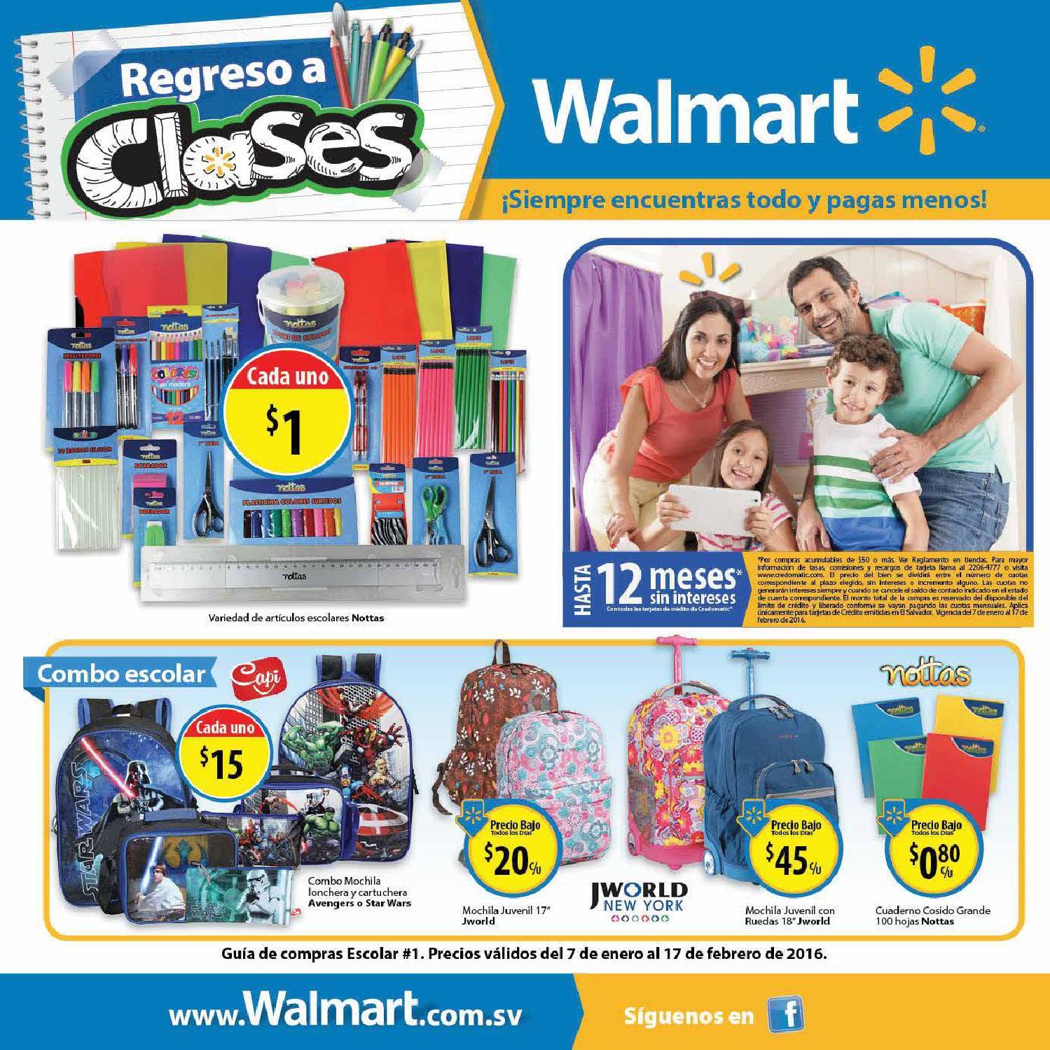 Walmart folleto nuemro 1 actualizado enero 2016 ofertas for El mundo del mueble catalogo