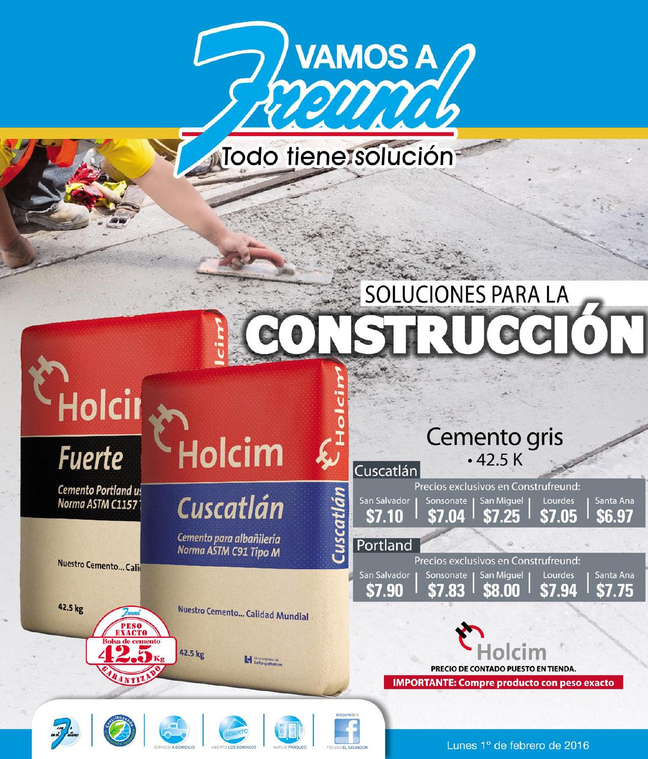FREUND Catalogo de promociones en productos para la construccion