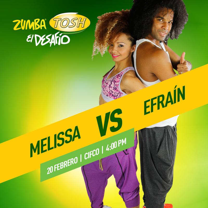 Melissa vs Efrain Zumba TOSH el salvador 2016