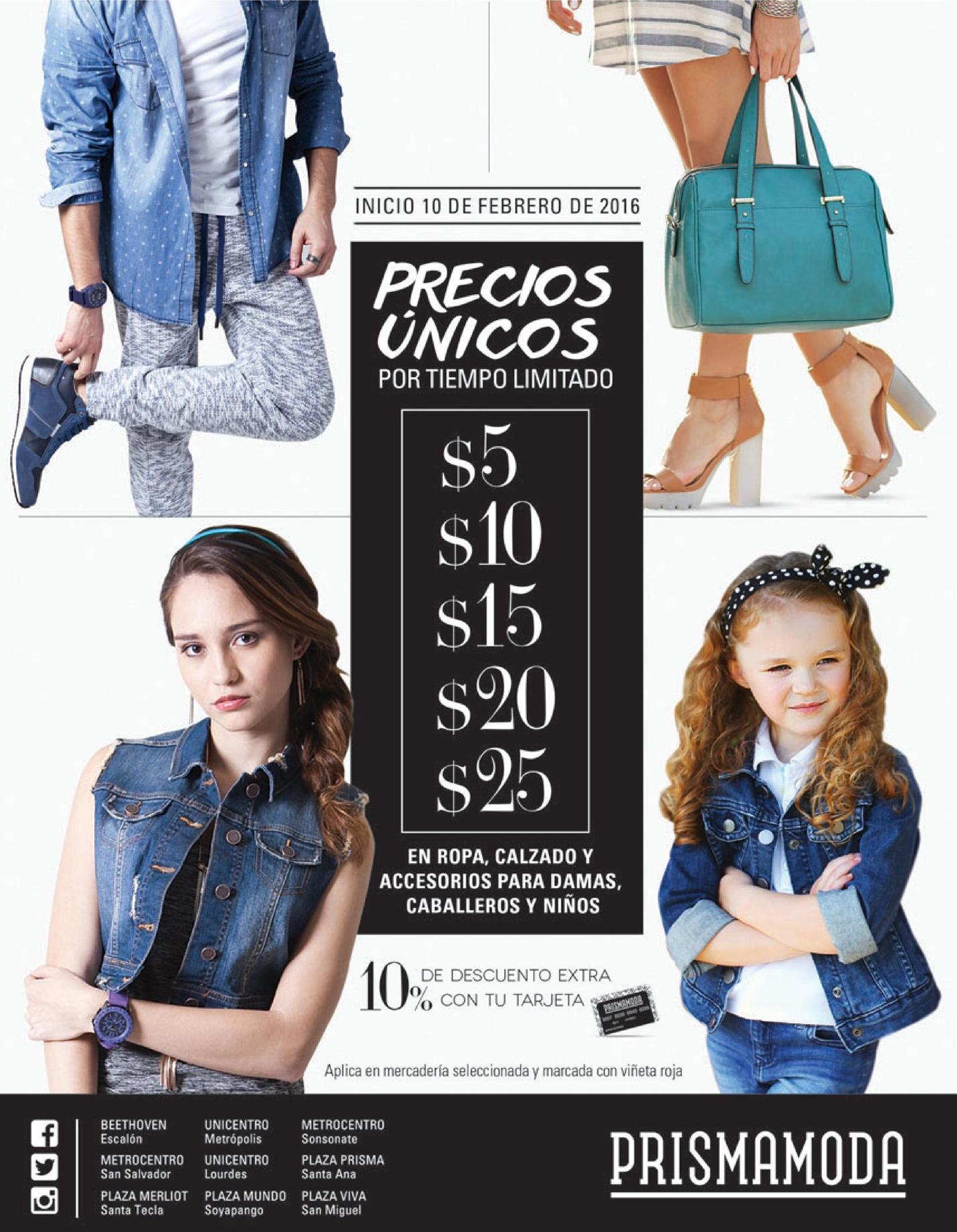 ROPA prisma moda Ahora inician precios unicos de temporada FEBRERO 2016
