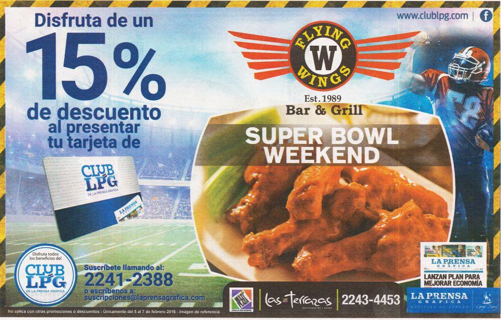 SUPER BOWL WEEKEND discounts con tu tarjeta club LPG