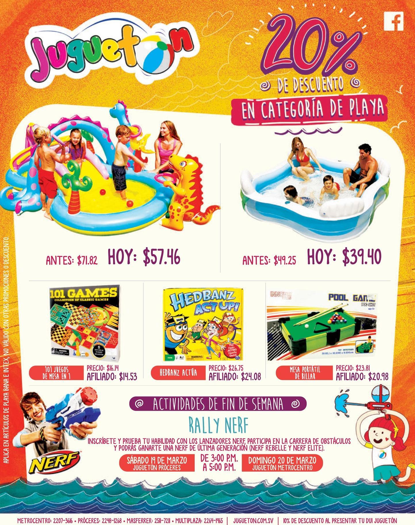 Juguetes de playa o piscina con 20 off en jugueton for Juguetes de piscina