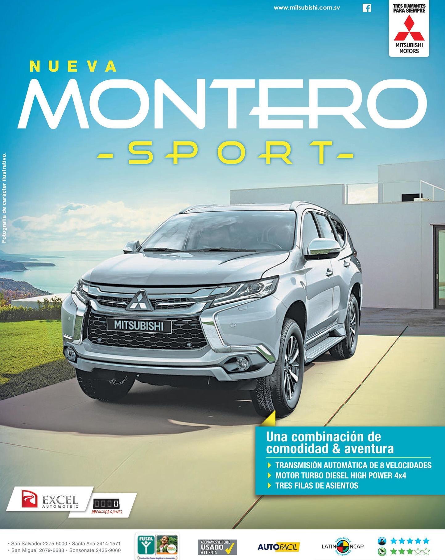 new montero sport mitsubishi venta de autos excel automotriz el salvador ofertas ahora. Black Bedroom Furniture Sets. Home Design Ideas