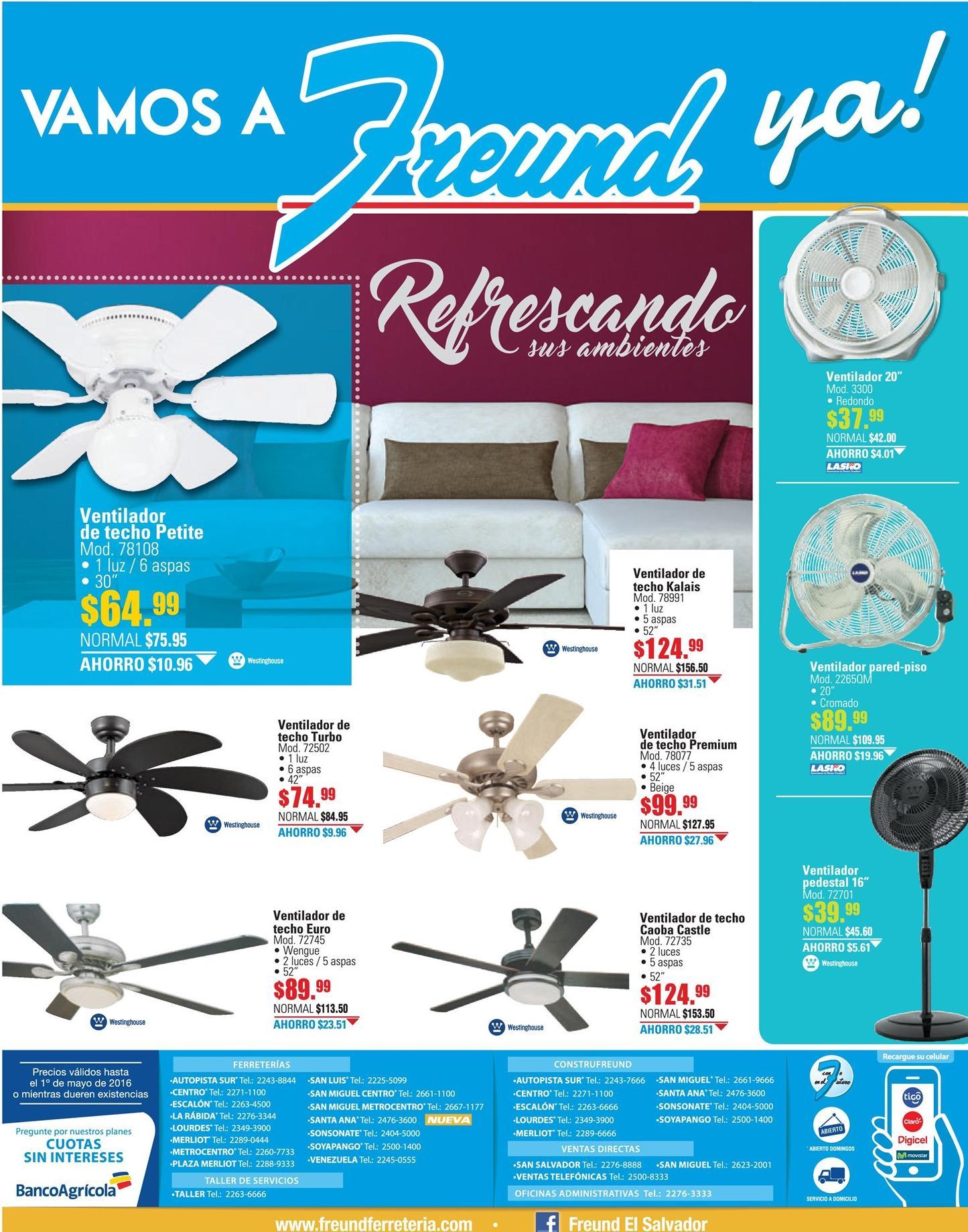 Freund temporada de calor ofertas en ventiladores para - Ventiladores silenciosos hogar ...