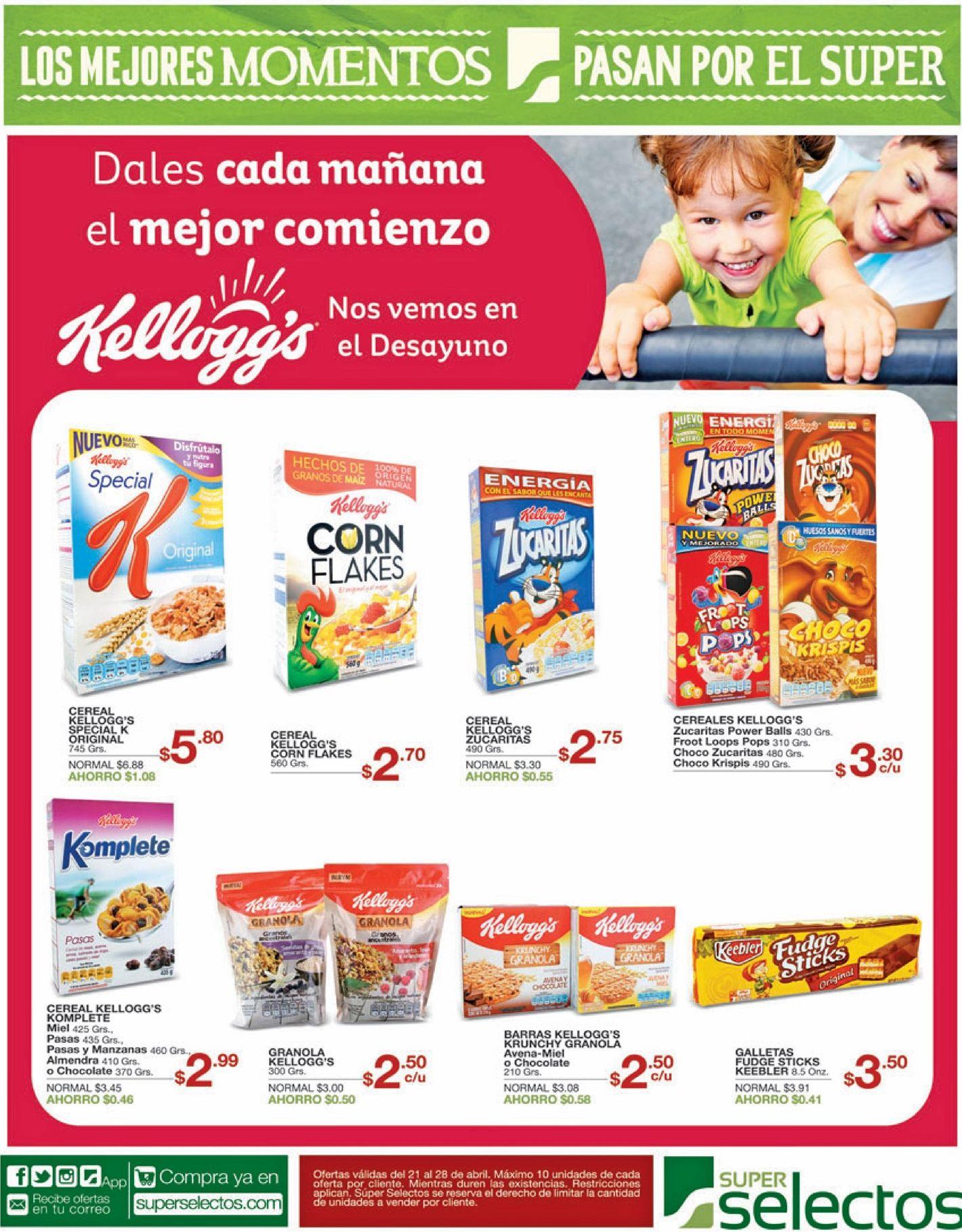 Kelloggs cereales para tu desayuno nutritivo y completo for Ofertas comedores completos