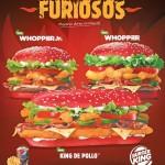 Nuevas BURGER KING con pan rojo FURIOSOS picante y delicoso