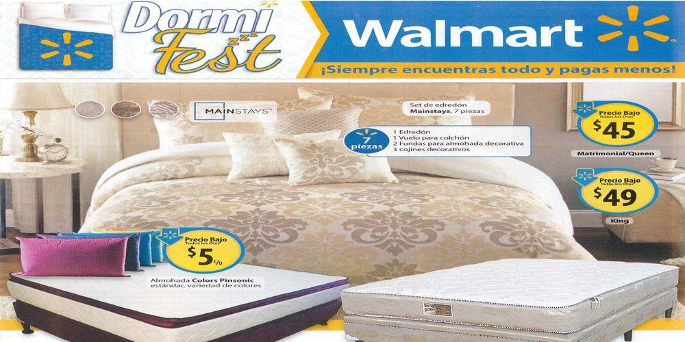 Walmart especial de ofertas en camas almohadas colchones y for Ofertas de camas