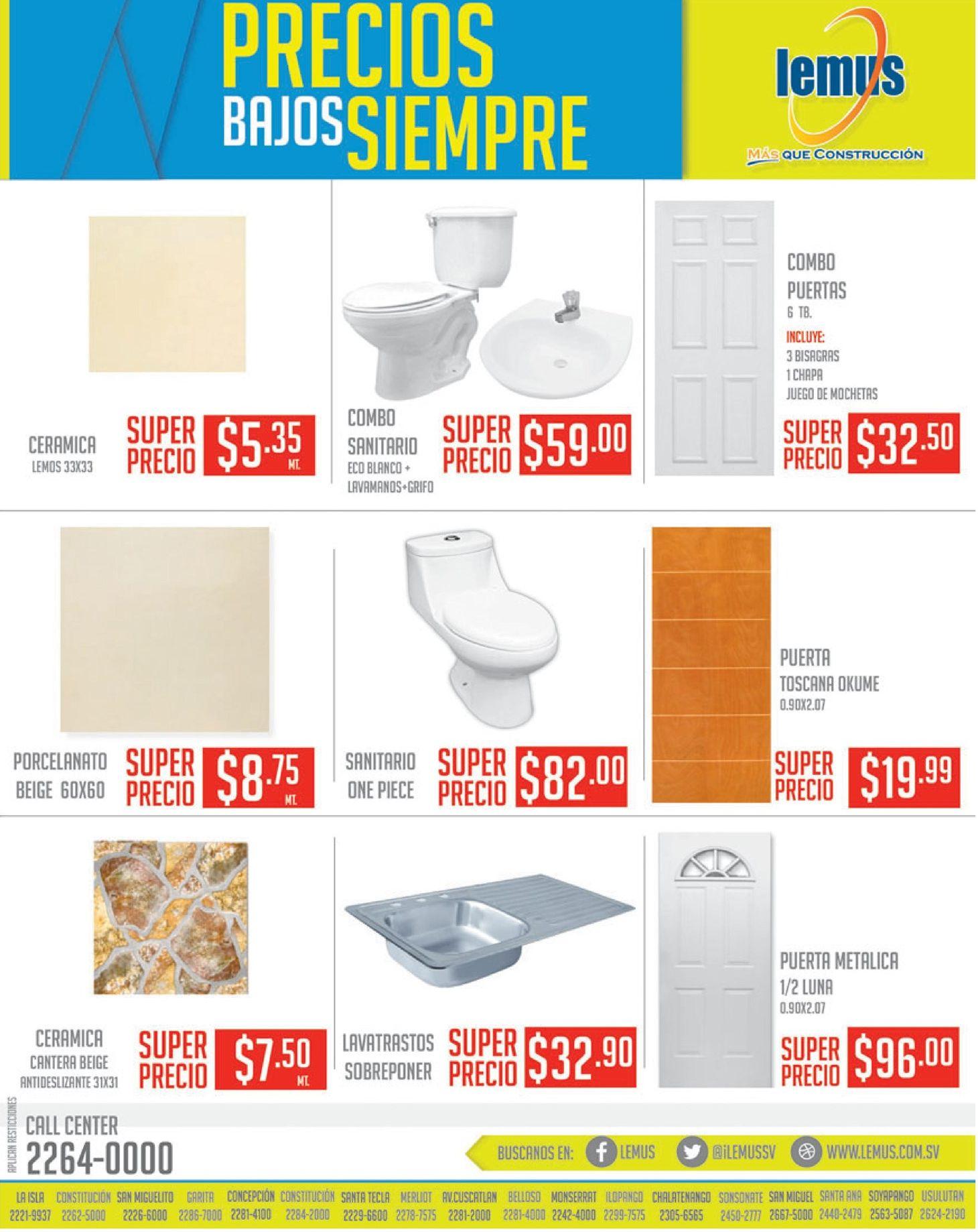 Precios bajitos en lemus materiales de construccion - Materiales de construccion precios ...
